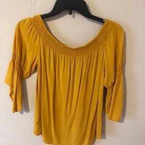 express off-the shoulder blouse